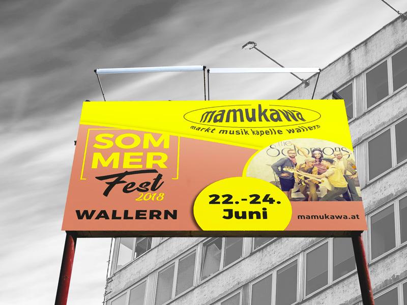 Marktmusikkapelle Wallern mamukawa 16-bogen-plakat
