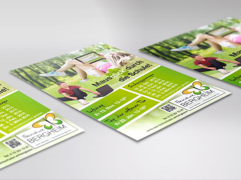 Fachschule Bergheim Plakate Flyer Postkarten