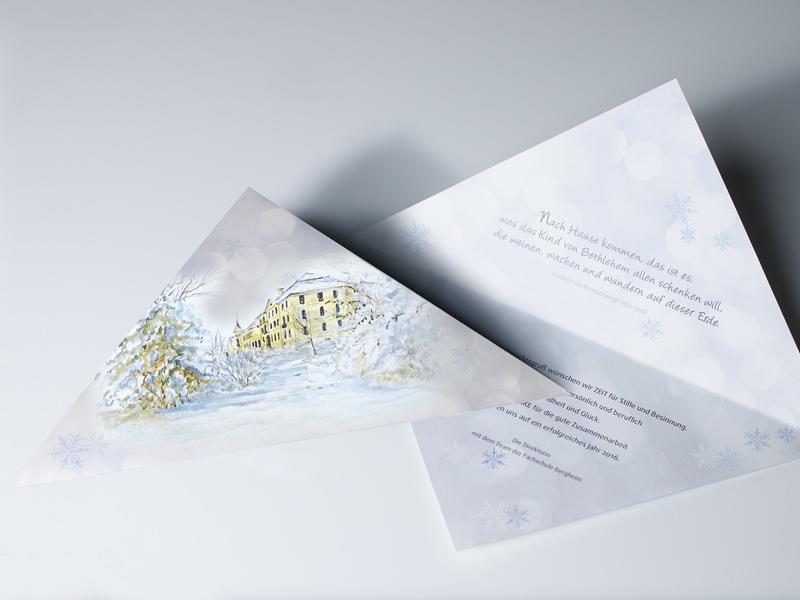 Fachschule Bergheim Weihnachtskarte