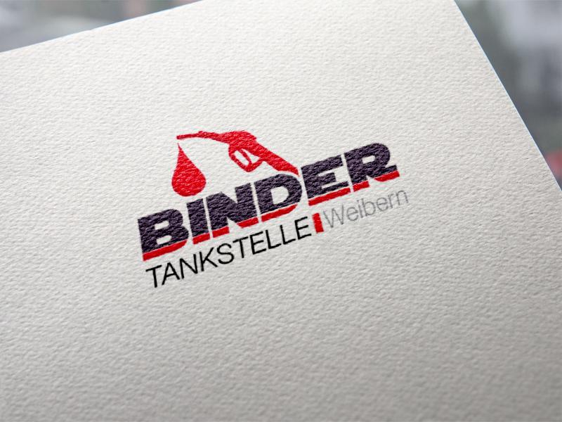 Tankstelle Binder Logoentwicklung