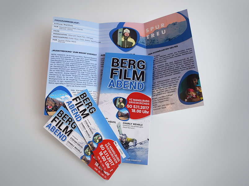 Naturfreunde Grieskirchen Gesamtauftritt Plakat Folder Eintrittskarten Flyer