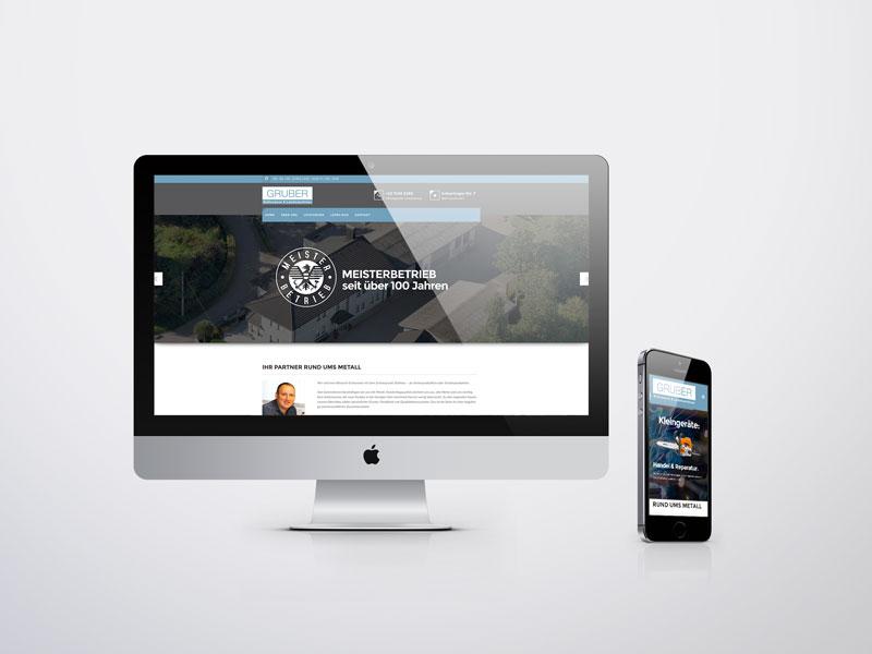 Schlosserei Gruber Website