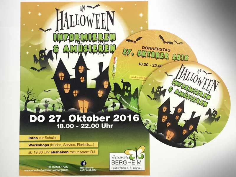 Fachschule Bergheim Plakate Flyer