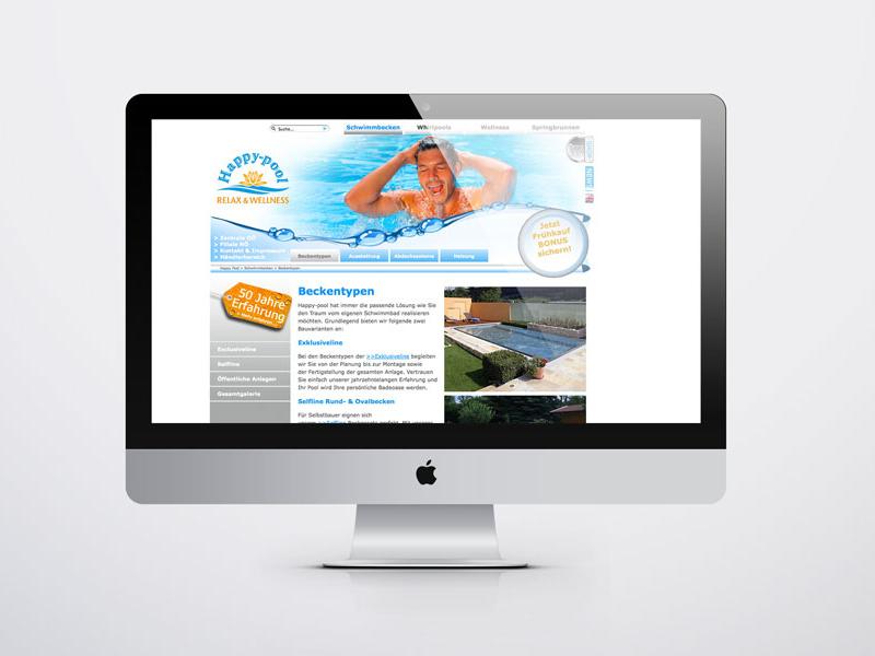 Happy pool Websitegestaltung