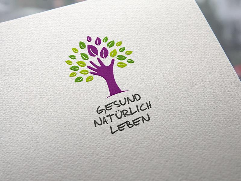 Gesund natürlich leben Logoentwicklung