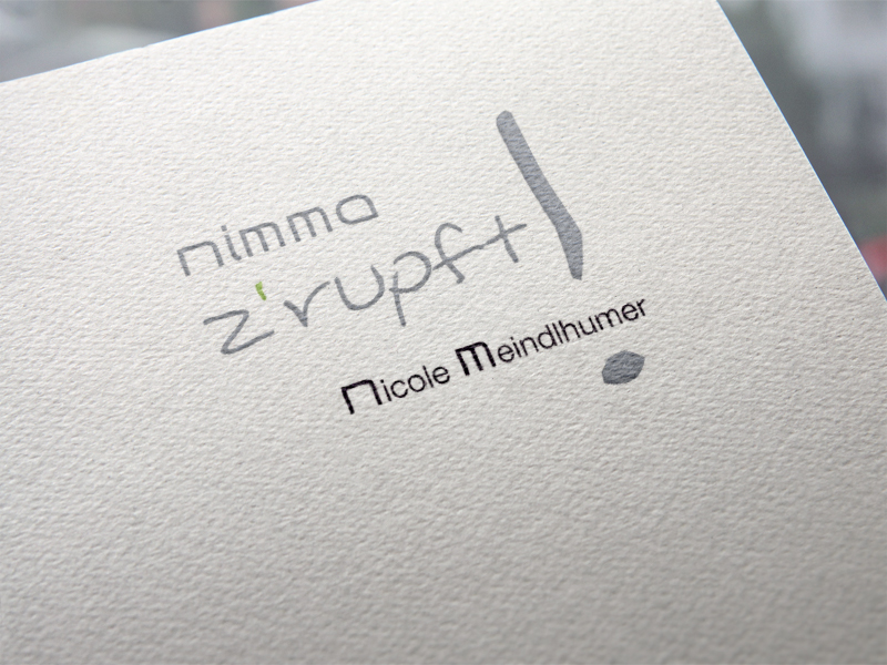 Nimma zrupft Logoentwicklung