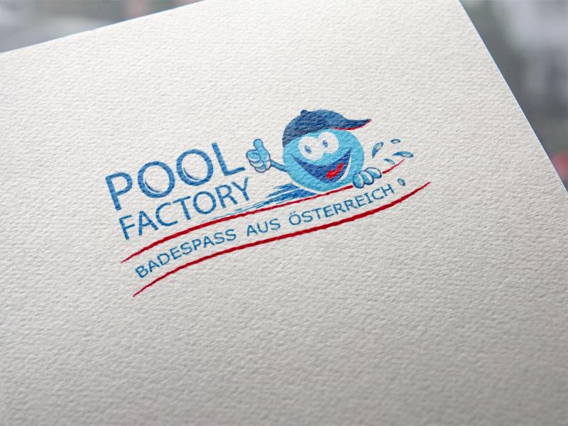 Poolfactory Logoentwicklung
