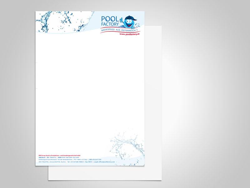 Poolfactory Briefpapier