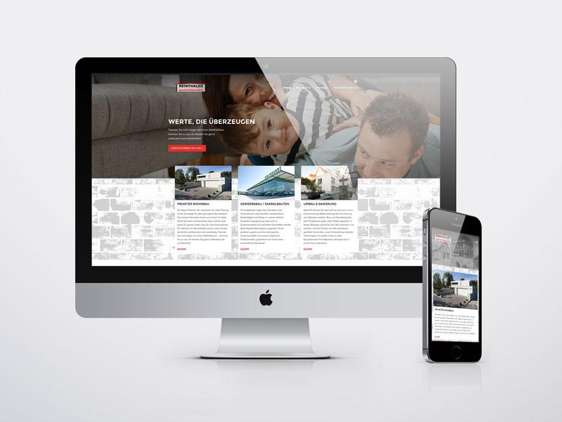 Reinthaler Bauunternehmen Website