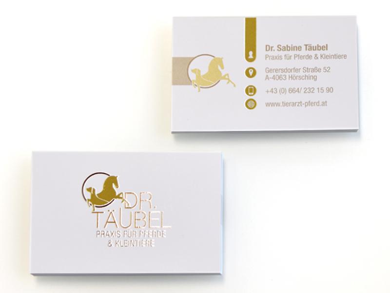 Dr. Sabine Täubel Visitenkarten