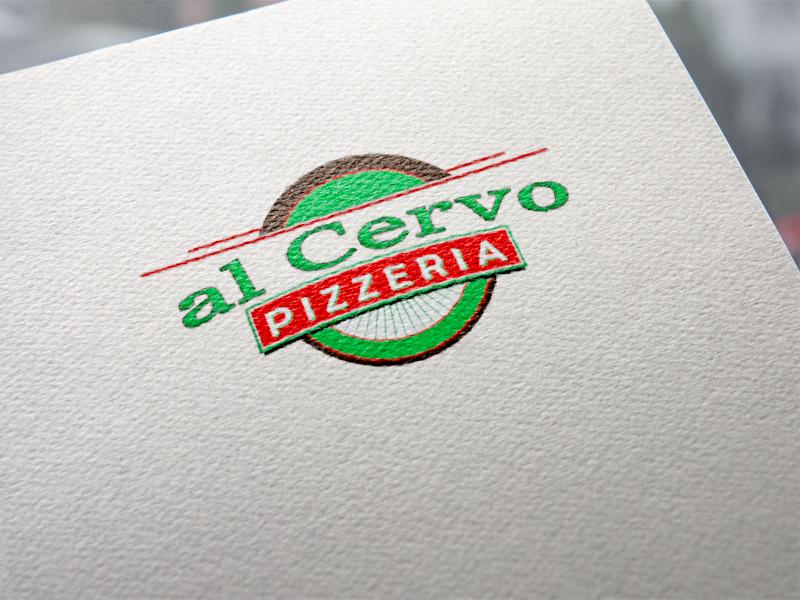 Al cervo Pizzeria Logoentwicklung