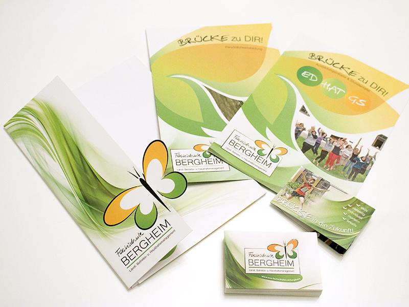 Fachschule bergheim mappen folder visitenkarten