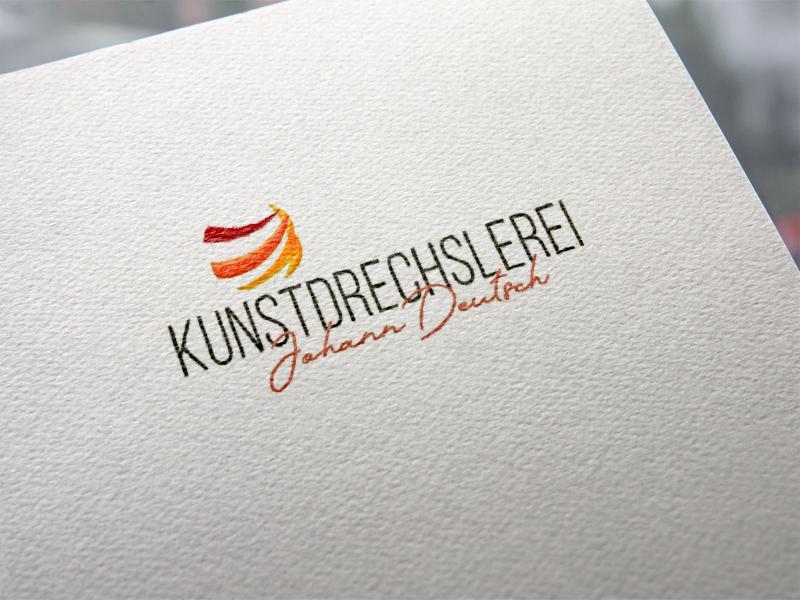 Kunstdrechslerei Deutsch Logoentwicklung