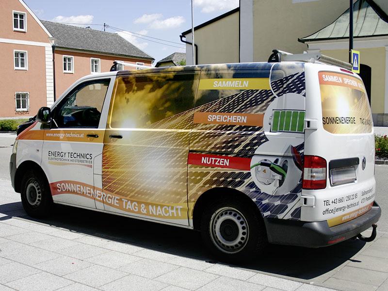 Energy Technics Autogestaltung Autobeschriftung