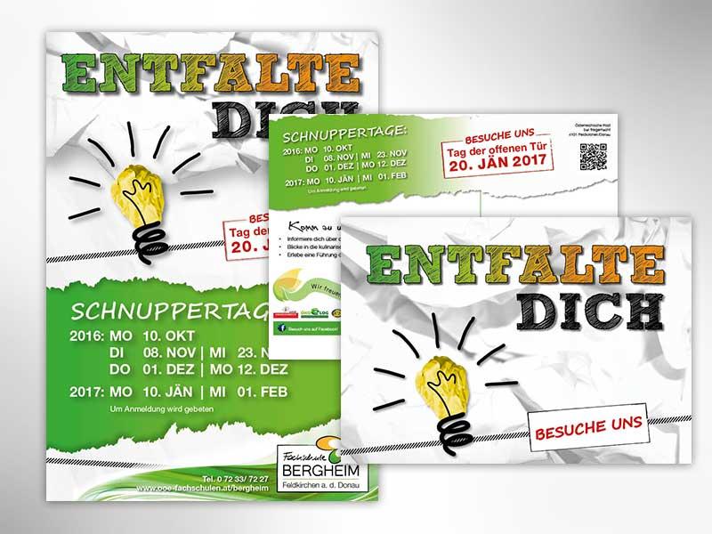 Fachschule Bergheim Plakat Flyer