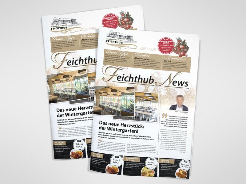 Erlebnisgasthof Feichthub Imageprospekt in Zeitungsform