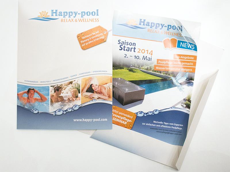 Happy Pool Flügelmappe Prospekt