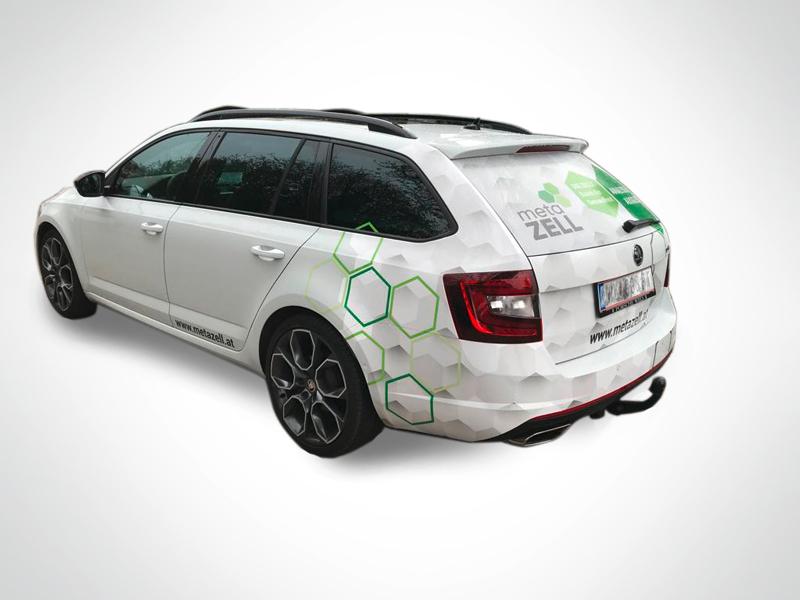 Metazell Autogestaltung Autobeschriftung