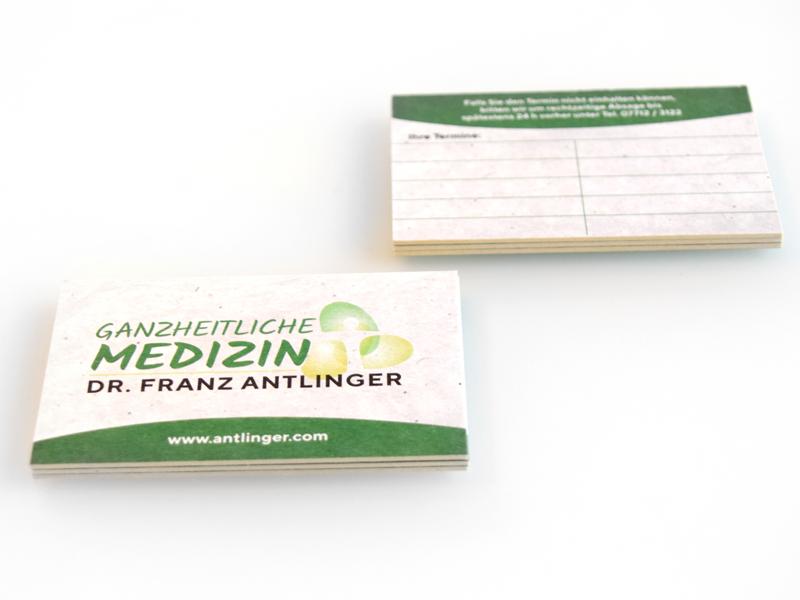 Dr. Antlinger Terminkarte