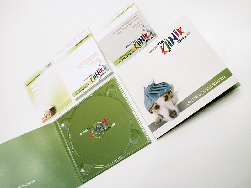 Tierklinik Visitenkarten Terminkarten CD-Hüllen