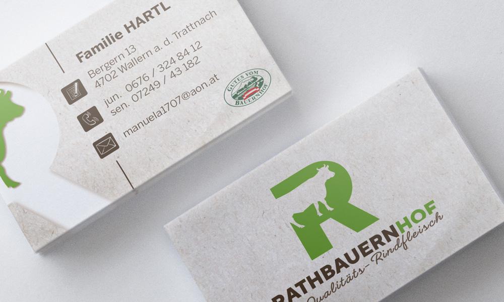 Rathbauernhof Familie Hartl VISITENKARTEN