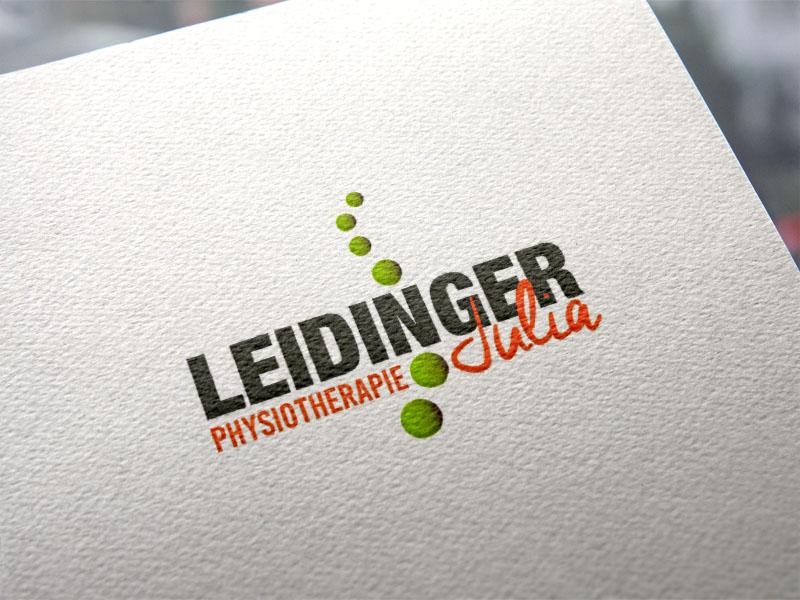 Julia Leidinger Physiotherapie Wallern Logoentwicklung