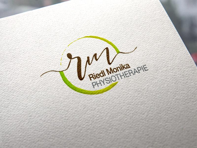 Monika Riedl Physiotherapie Wallern Logoentwicklung