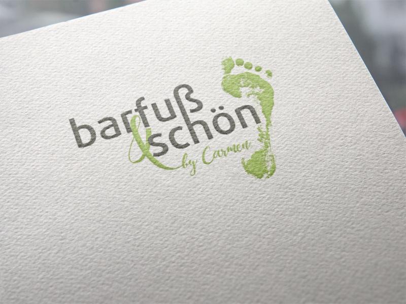 Barfuß und schön Logoentwicklung