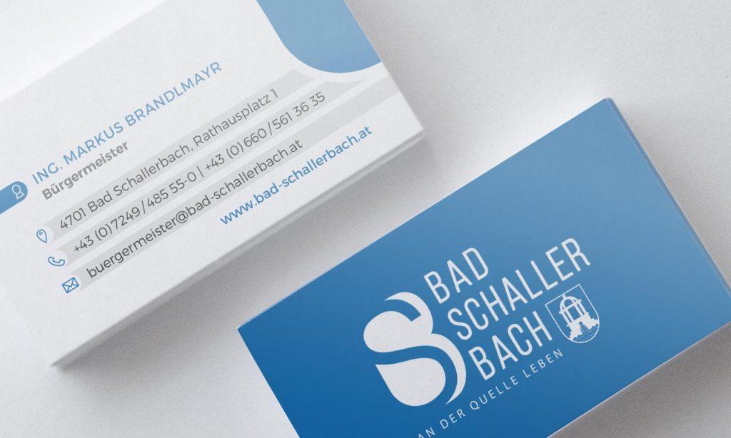 Gemeinde Bad Schallerbach Visitenkarten
