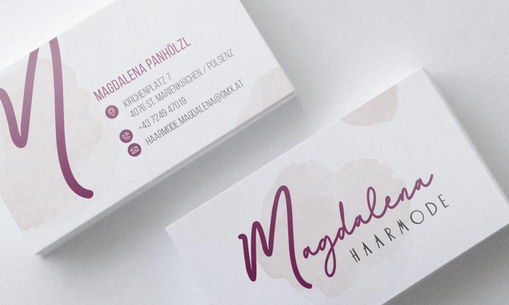 Magdalena Haarmode Visitenkarten