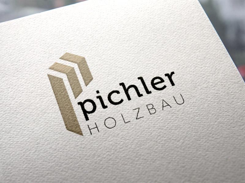 Pichler Holzbau Logoentwicklung