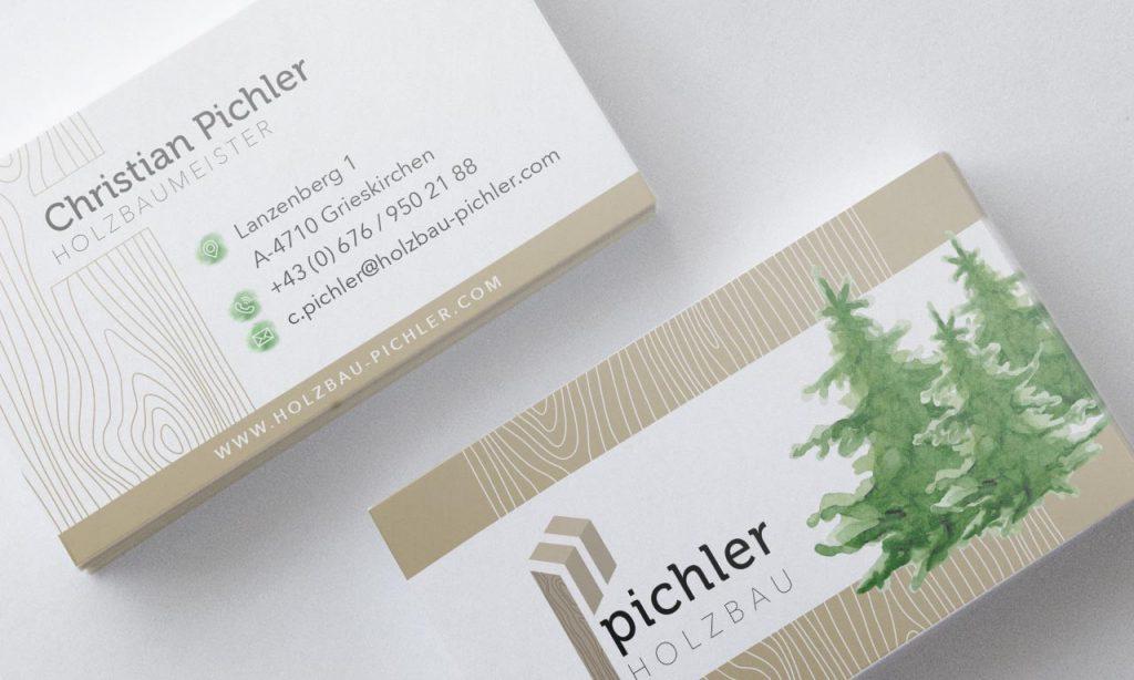 Pichler Holzbau Visitenkarten