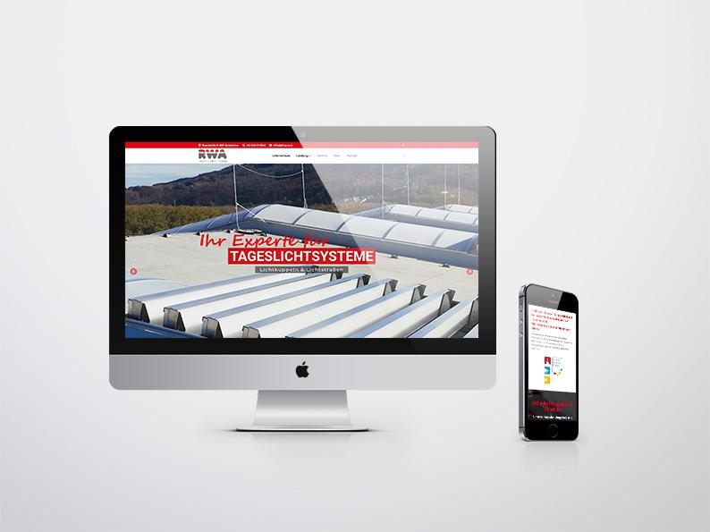 RWA Licht- und Lüftungstechnik GmbH Website