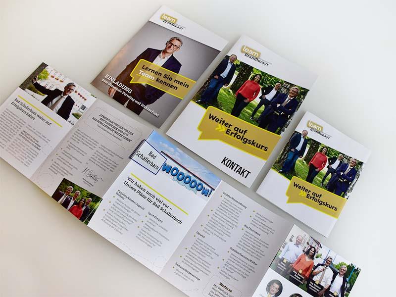 ÖVP Bad Schallerbach Drucksorten Wahlkampagne