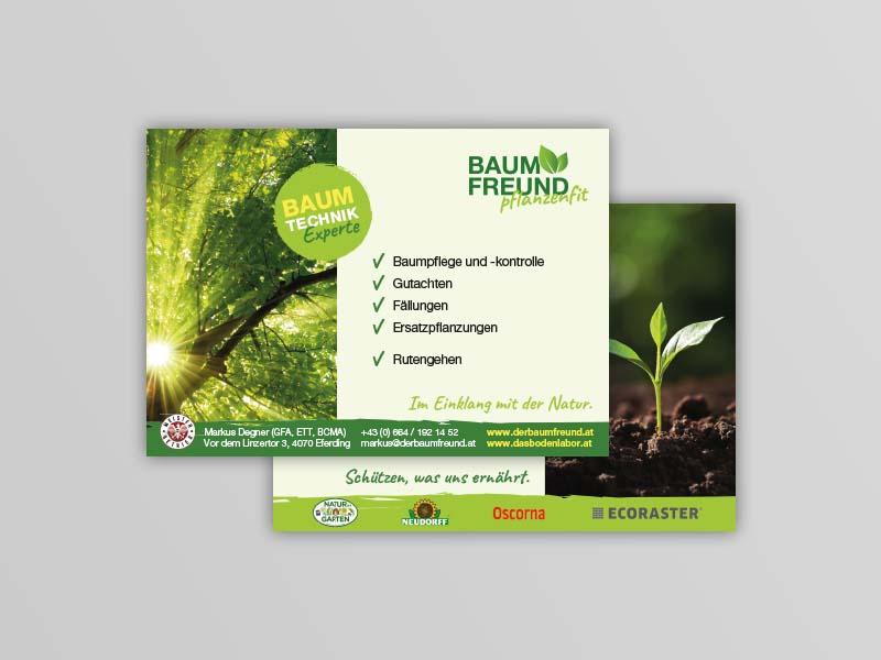Der Baumfreund - Das Bodenlabor Postkarte