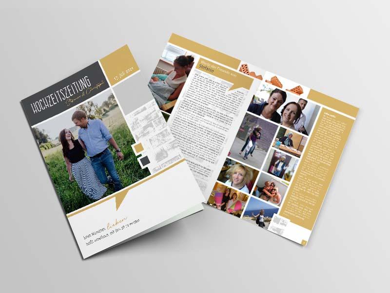 Stefanie und Christoph Reinthaler Hochzeitszeitung
